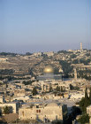 Israel, Jerusalem, the Dome of the Rock and the Mount of Olives