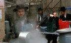 Israel Jerusalem Ultra-Orthodox Jews boil utensils to make them Kosher for Pesach Passover Festival