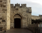 Israel, Jerusalem, the Jaffa Gate near the Citadel in the Western Old City Wall