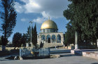 Israel, Jerusalem, the Dome of the Rock and the Ablutions Fountain
