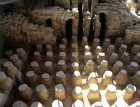 Israel Beth Shean, floor columns of hypocaust, western bathhouse