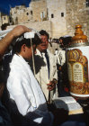 Israel Jerusalem Sephardic Jewish boy by the Torah