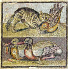 Cat and bird above, ducks below, third century National Roman Museum, Palazzo Massimo, Rome, Italy