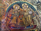 Coronation of the Virgin, thirteenth century, attributed to Jacopo Torriti, apse mosaic in Santa Maria Maggiore, Rome, Italy