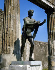 Bronze statue of Apollo the Archer, Temple of Apollo, Pompeii, Italy