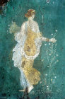 One of the Four Seasons frescos from Pompeii, National Archaeological Museum, Naples, Italy