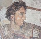 Alexander the Great, detail of the Issus mosaic 100 BC, Museo Nazionale, Naples, Italy