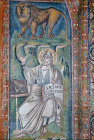 Italy, Ravenna,  San Vitale  St Mark and his symbol 6th century Byzantine mosaic