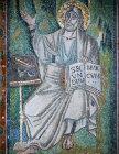 Italy,  Ravenna, San Vitale, St Mark, 6th century Byzantine mosaic
