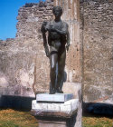 Apollo the Archer, bronze statue in Temple of Apollo, Pompeii, Italy