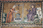 Italy, Ravenna, the Woman of Samaria 6th century Byzantine mosaic in Sant