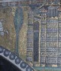 Italy, Ravenna Basilica of San Vitale 6th century Byzantine mosaic of Bethlehem