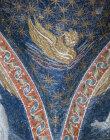Italy Ravenna San Vitale symbol of St Mark 6th century Byzantine mosaic