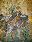 Italy, Ravenna, mosaic of the Three Kings, detail of Caspar