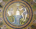 Baptism of Christ, 5th century mosaic, Arian Baptistry, Ravenna, Italy