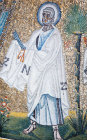 Italy, Ravenna St Peter 5th century mosaic in the Baptistry of Arians previously the Church of Santa Maria Cosmedin