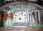 Italy, Ravenna, San Vitale, sacrifices of Abel and Melchizadek 6th century Byzantine mosaic