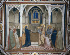 Italy, Assisi,  the Presentation fresco in the transept of the Lower Church 14th century