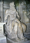 Moses, sculpture by Michelangelo, completed in 1515, for tomb of Pope Julius II, in church of San Pietro in Vincoli, Rome, Italy