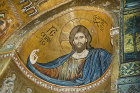 Christ Pantocrator, Monreale Cathedral, dedicated to the Assumption of the Virgin, founded 1131 by Norman king, William II, Monreale, Sicily, Italy