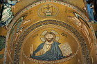 Christ Pantocrator, apse of Palatine Chapel, palace of the Norman kings of Sicily, built by Roger II, Palermo, Sicily, Italy