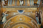 Annunciation, apse of Palatine Chapel, palace of the Norman kings of Sicily, built by Roger II, Palermo, Sicily, Italy