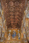 Muqarnas or honeycomb vaults, architectural ornamented vaulting, Palatine Chapel, palace of the Norman kings of Sicily, built by Roger II, Palermo, Sicily, Italy
