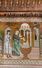 Paul baptising Ananias, Palatine Chapel, palace of the Norman kings of Sicily, built by Roger II, Palermo, Sicily, Italy