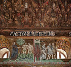 Adam and Eve banished from the Garden of Eden, Palatine Chapel, palace of the Norman kings of Sicily, built by Roger II, Palermo, Sicily, Italy