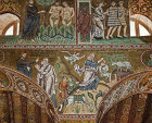 Sacrifice of Isaac, Adam and Eve, Palatine chapel, palace of the Norman kings of Sicily, built by Roger II, Palermo, Sicily, Italy