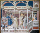 The Scouring by the Lorenzetti School, 1320 in the Lower Church, Assisi, Italy