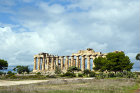 Temple of Hera, Temple E, Doric temple, built sixth century BC, eastern group of temples, Selinunte (ancient Selinus) Sicily, Italy