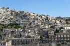 Modica Alta, seen across the valley from Modica Bassa, Sicily, Italy