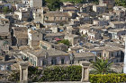 View down onto tiled roofs, Modica Bassa, Sicily, Italy