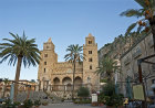 Cefalu Cathedral, built in 1131 by Norman King Roger II of Sicily, Cefalu, Sicily, Italy