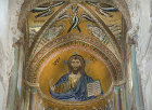 Christ Pantocrator, CefaIu Cathedral, built by Norman King Roger II of Sicily, Cefalu, Sicily, Italy
