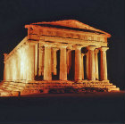 Italy, Sicily, Agrigento, Greek Doric Temple of Concordia 5th century BC