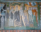 Italy, Ravenna 6th century Byzantine mosaic of Theodora in the Basilica of San Vitale