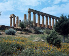 Italy, Sicily, Agrigento, the Temple of Juno Lacinia, 5th century BC, north east aspect