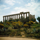 Italy, Sicily, Agrigento, Temple of Juno Lacinia, 5th century BC, north west aspect