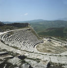 Italy, Sicily, Segesta, Greek theatre, 3rd century BC