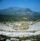 Italy, Sicily, Segesta, the Greek Theatre, 3rd century BC