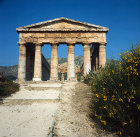 Italy, Sicily, Segesta, Greek Temple, east facade 5th century BC