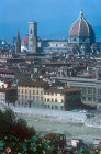 View of Florence, with the duomo in the background, Italy