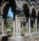 Cloisters of Church of San Giovanni Degli Eremiti, 1132, Palermo, Sicily, Italy
