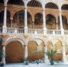 Norman palace, portico fronting entrance and side of Palatine Chapel, Palermo, Sicily, Italy