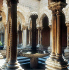 Fountain in cloisters, circa 1175, Cathedral of Monreale, Sicily, Italy
