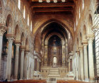 Nave of Monreale Cathedral, circa 1175, Sicily, Italy
