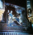 St Peter healing Tabitha, twelfth century Byzantine mosaics, Palatine Chapel, Palermo, Sicily, Italy
