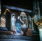 St Paul being baptised, twelfth century Byzantine mosaics, Palatine Chapel, Palermo, Sicily, Italy